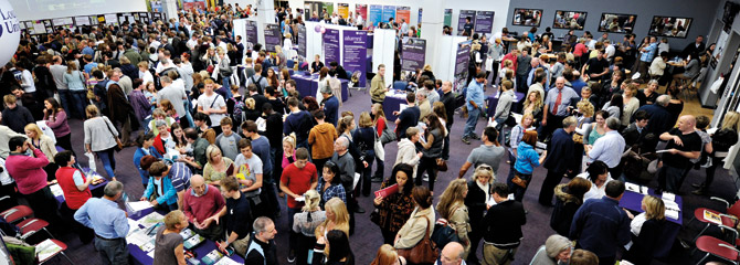 People at an open day