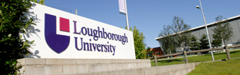 Loughborough University entrance sign
