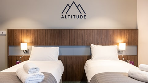 Altitude bedroom at Elite Athlete Centre and Hotel