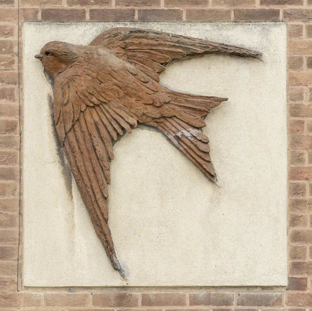 Relief of a House Martin by Willi Soukop