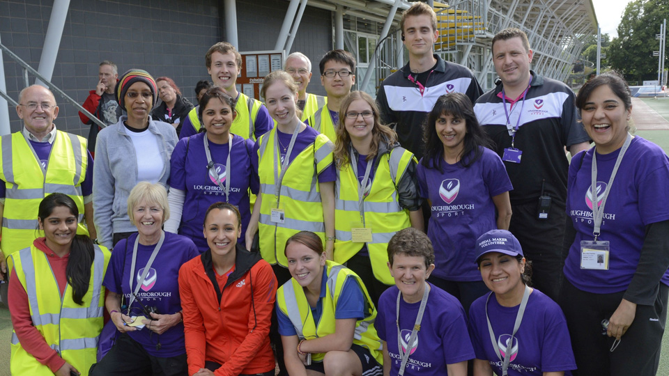 group photo of local volunteers with Jess Ennis