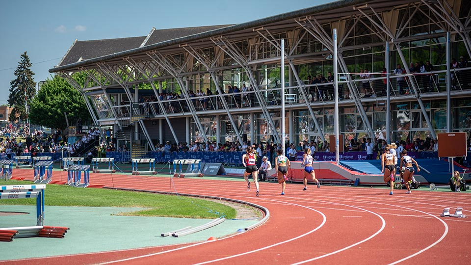 Athletics centre during Loughborough International Athletics 2018
