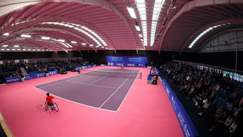 The NEC Wheelchair Masters at Loughborough Tennis Centre