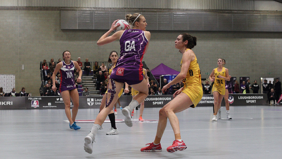 Loughborough Lightning netball players