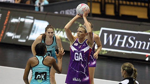 Ella Clark in action for Loughborough Lightning
