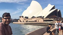 Jameel in Australia at the opera house