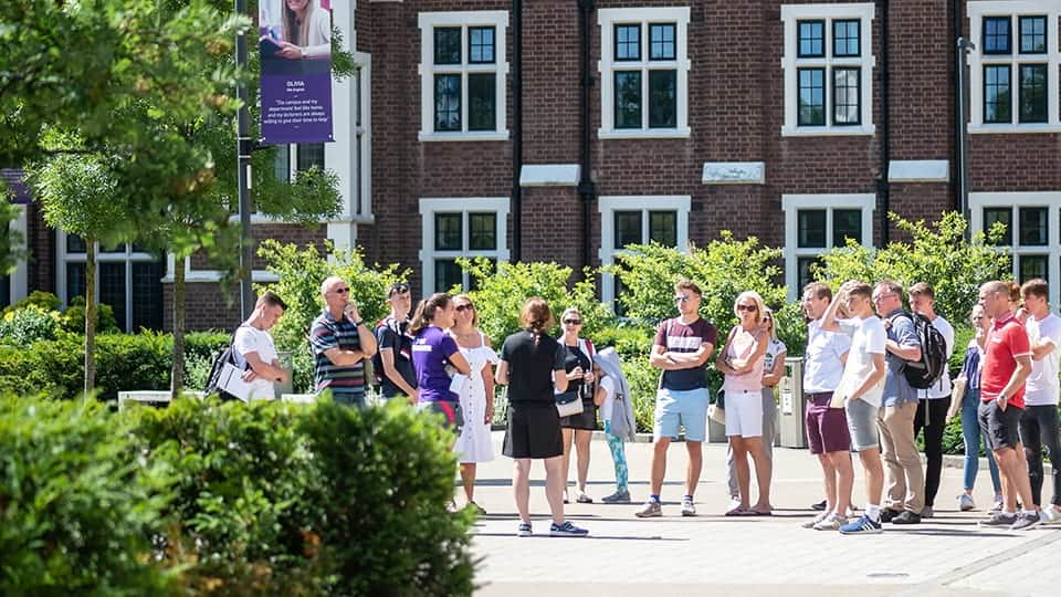 Campus tour at Loughborough University
