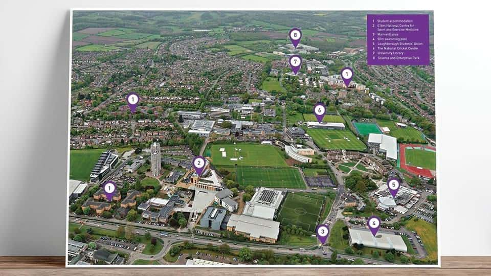 Online campus map of Loughborough campus