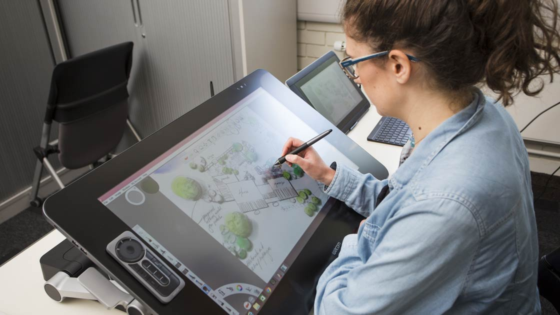 WACOM tablet being used