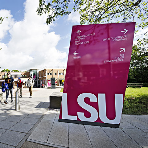 Students' Union sign