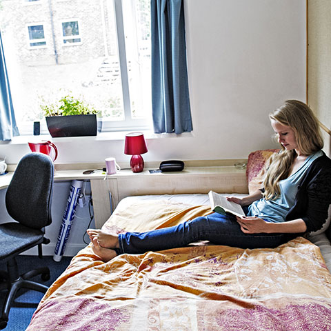Student in their accommodation
