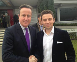 David Cameron and Pavegen founder and CEO, Laurence Kemball-Cook.