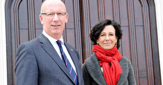 Vice Chancellor Professor Bob Allison and Ana Botin, Chief Executive of Santander UK