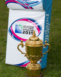 Rugby World Cup - Team Base stock photo