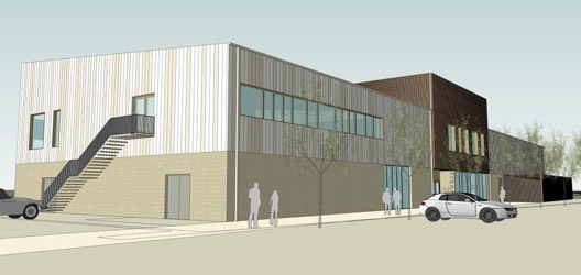 Artists Impression: New health and fitness building