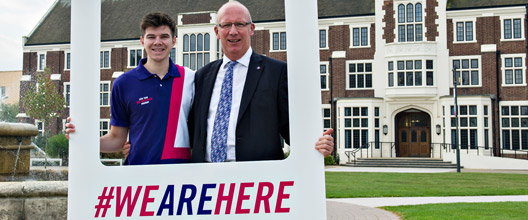 VC Bob Allison and Students' Union President Rob Whittaker