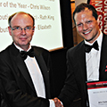 Angus Laing and John Cadogan at the 2013 SBE Awards Dinner