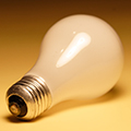 photo of a lightbulb