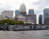 photo of Canary Wharf in London