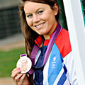 photo of Laura Unsworth after the London 2012 Olympics
