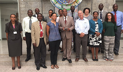 Dr Mark Hepworth with AURA colleagues and academics in Kenya