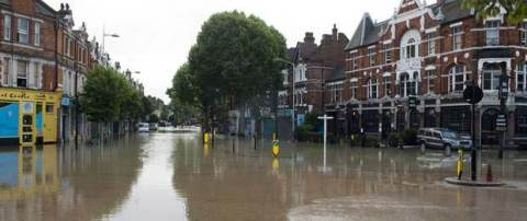 Photo of Herme Hill flood after burst water main