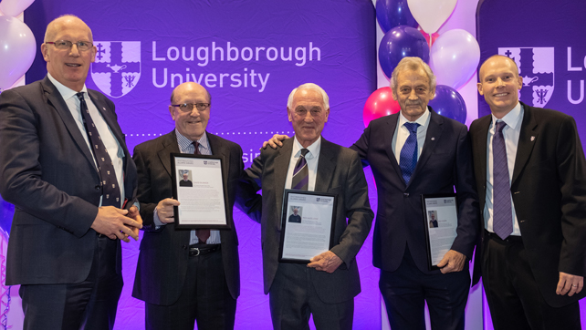 VC, David Bunker, Rex Hazeldine, Rod Thorpe and Prof Chris Harwood