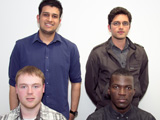 University Projects founders Olusola Akinolugbade, Simon Kerr, Moin Vohora and Jay Vagharia