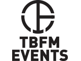 The TBFM Events logo.
