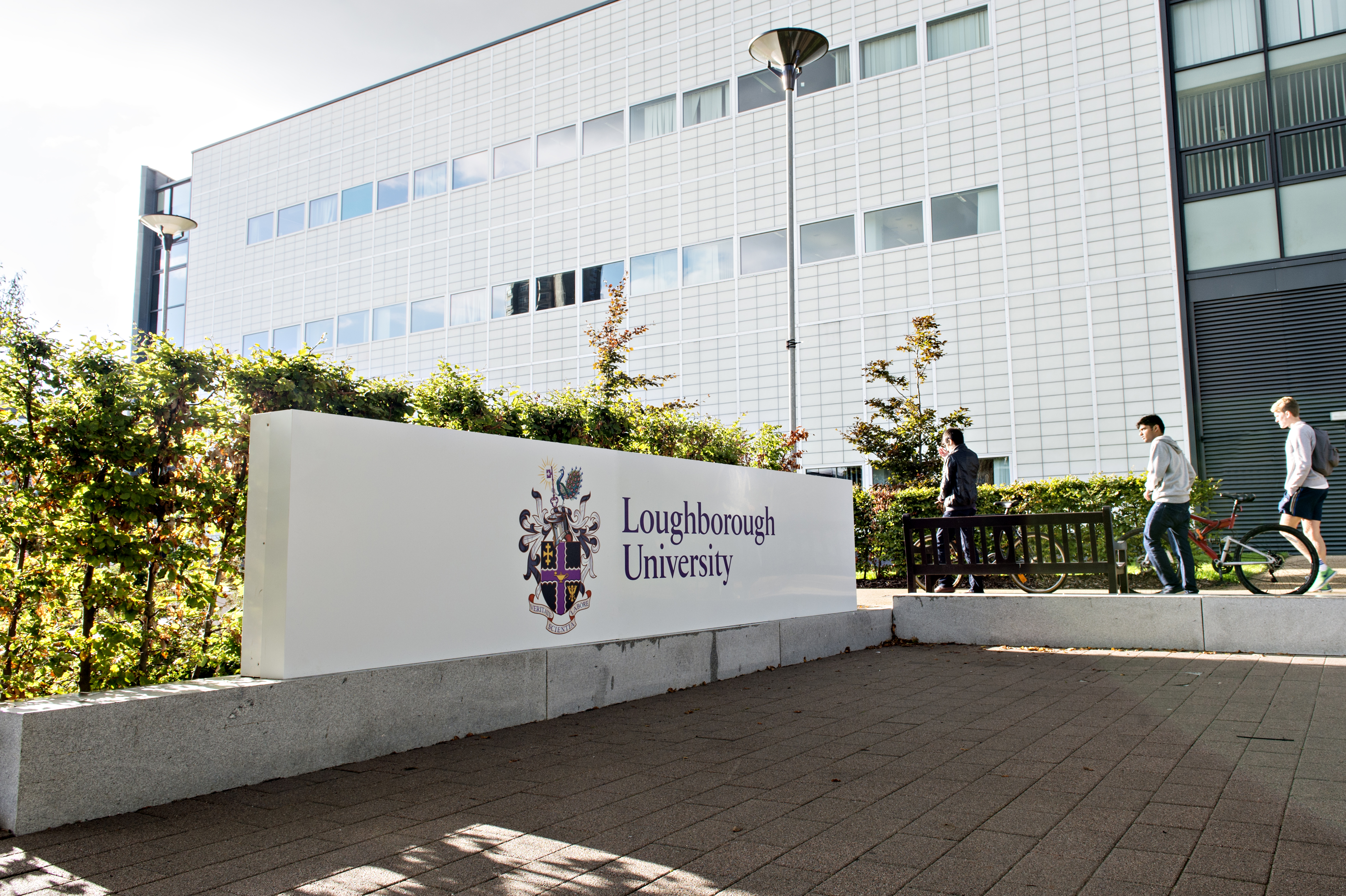 Loughborough University main entrance sign
