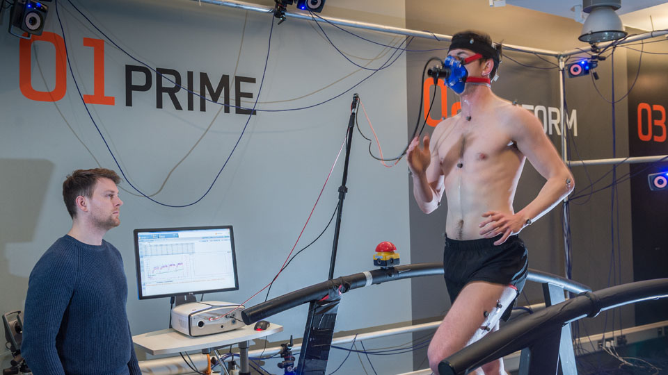 Runner on treadmill during study