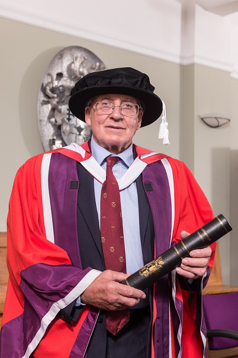 Doug Scott receives his honorary degree