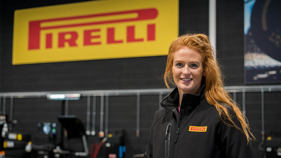 Beth Walker-Smith at Pirelli