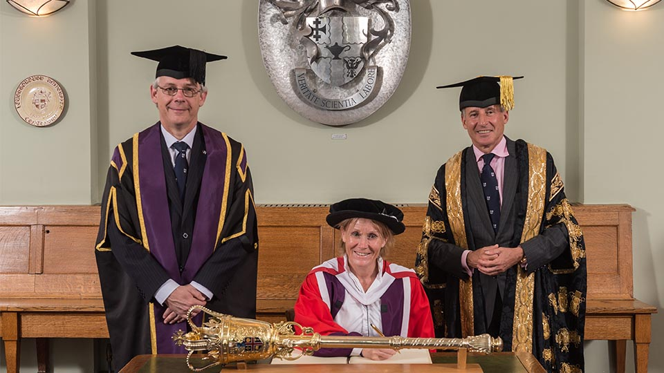 Penny Briscoe presented with degree
