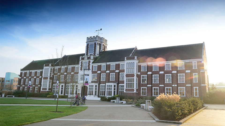 Pictured is the front of Loughborough University's Hazlerigg building.