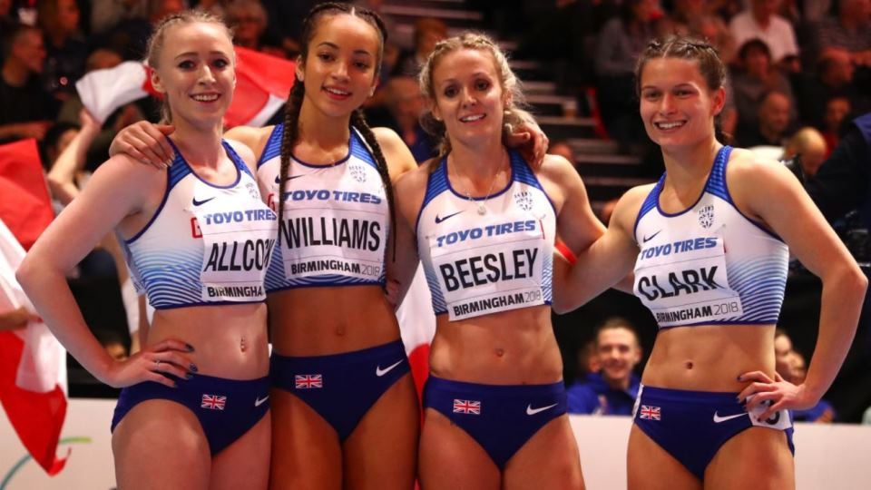 Loughborough alumnae Amy Allcock and Meghan Beesley win bronze at the World Indoor Athletics Championships