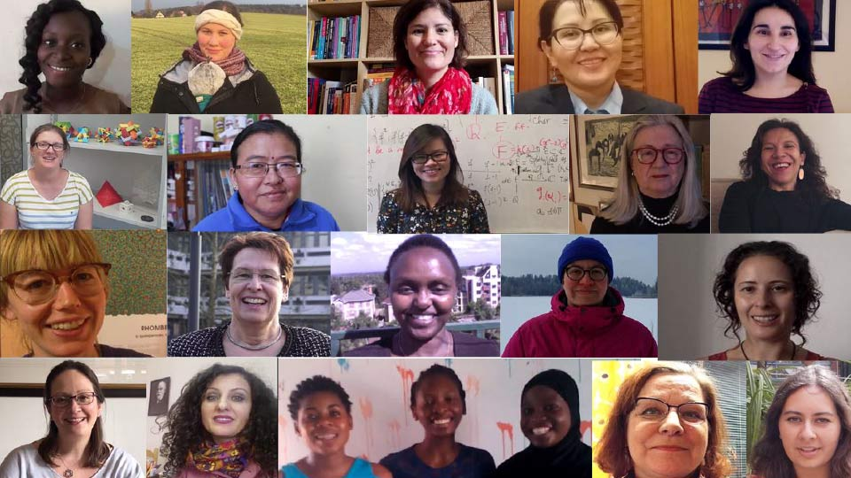Pictured are women that feature in the Faces of Women in Mathematics short film.