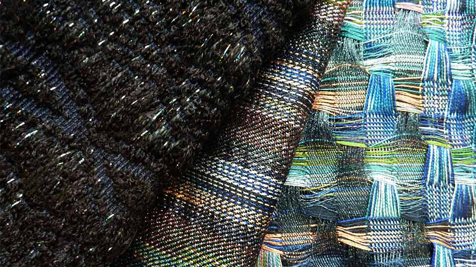 Pictured is woven textile work by Kathryn Beck, Woven Textiles.