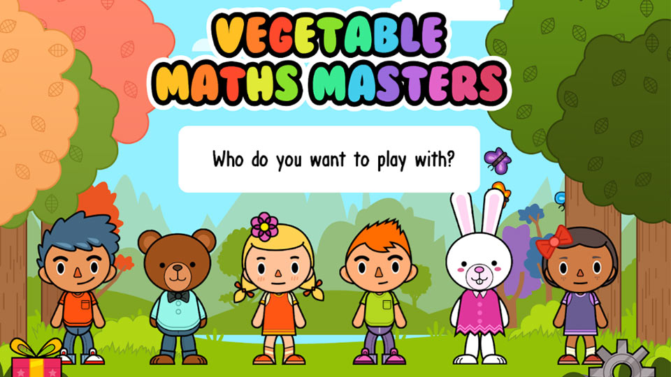 Pictured is the Vegetable Maths Masters homepage.