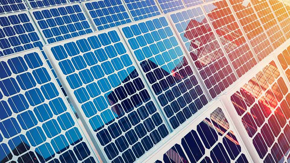 Pictured is a solar panel.