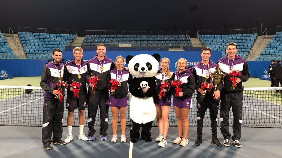 Loughborough Tennis win in China