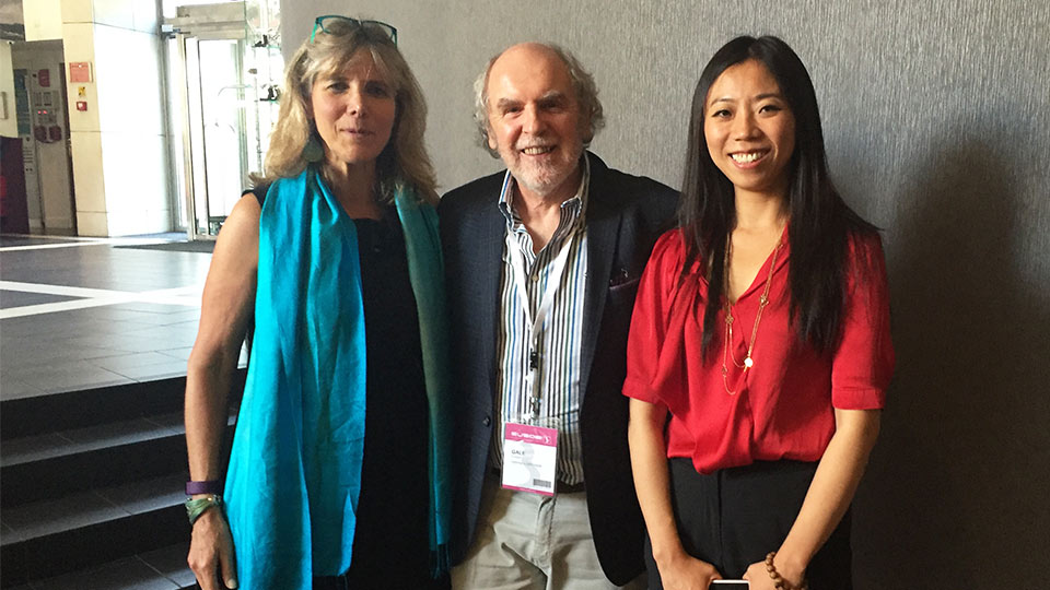 Dr Laura Esserman, Professor Alastair Gale and Dr Yan Chen.