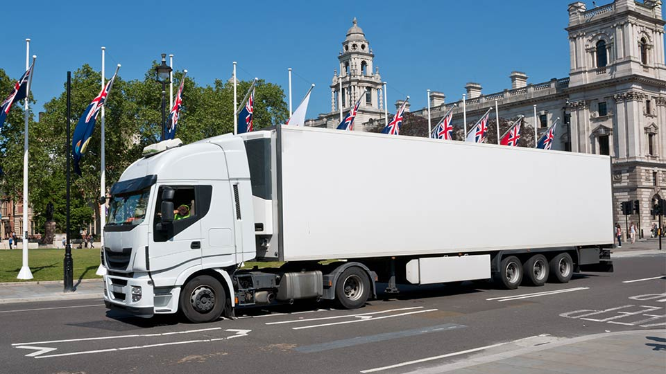 A HGV in London.