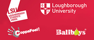 LSU, Loughborough University, Ballboys and Coppafeel! logos.
