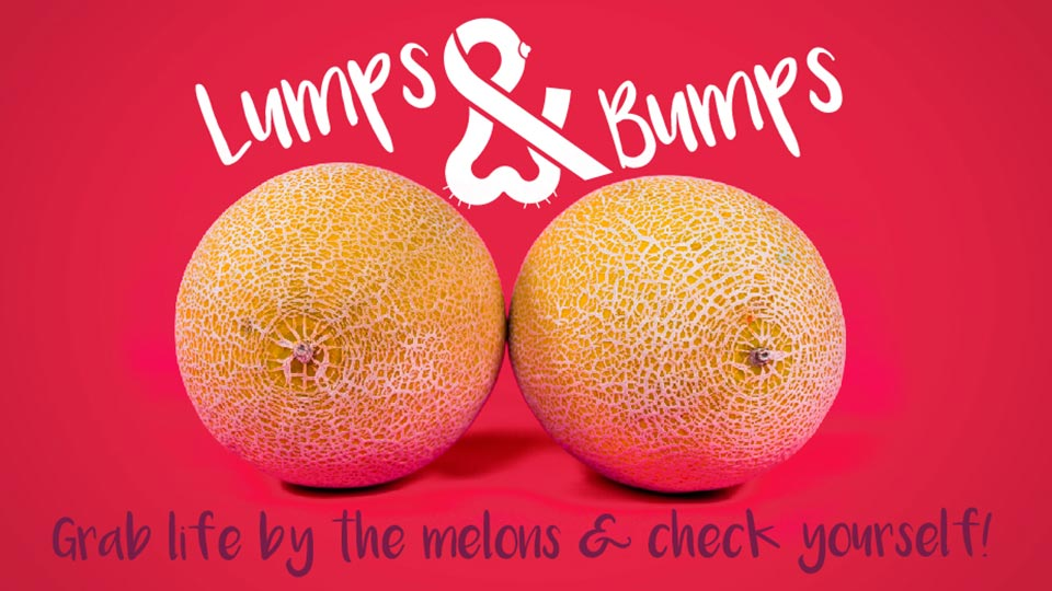 Lumps and Bumps red logo with melons