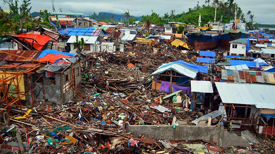 Typhoon Haiyan Damage, Tacloban. Source: Getty Images.