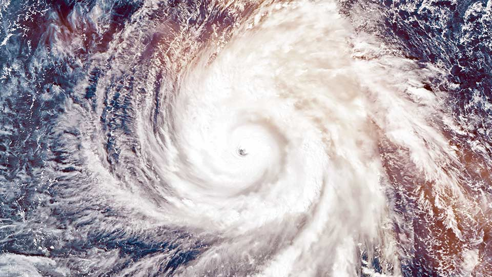 Super Typhoon Yutu, strongest storm on Earth in 2018. Satellite view. Elements of this image furnished by NASA. Source: Getty Images.