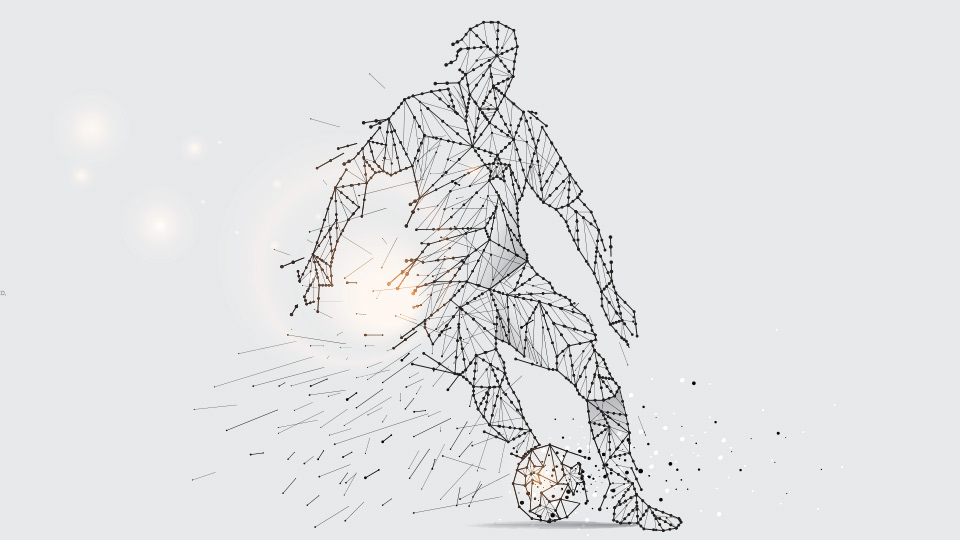 A vector of a football player