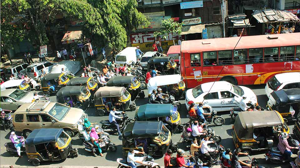 Traffic in India.