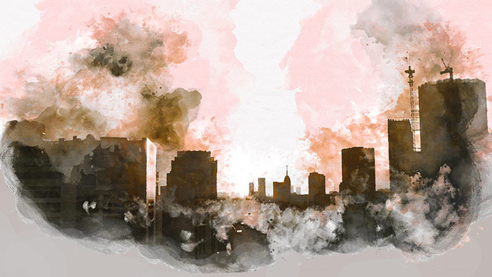 A drawing of air pollution